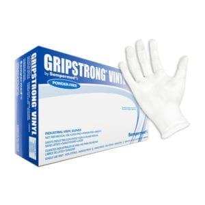 GripStrong Vinyl, Powder Free Gloves